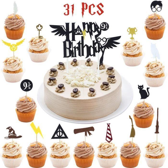 Harry Potter à Thème Personnalisé Cake Topper Gâteau d/'Anniversaire Décorations Tout Nom