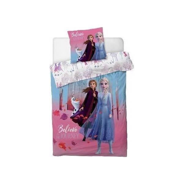 E 135 x 200 CHRN Disney Housse de couette motif dessin anim/é La Reine des neiges 2//3 pi/èces Olaf Anna Elsa Kristoff Imprim/é Rose pour enfants adultes D/écoration de No/ël