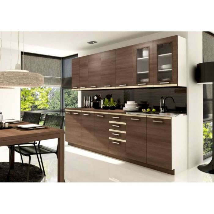 Justhome Viola Cuisine Equipee Complete Couleur Acacia