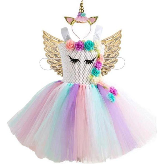 2 x Clochette Pink Fée Costume Avec Baguette Magique Aile Sceptre elfes costume enfants