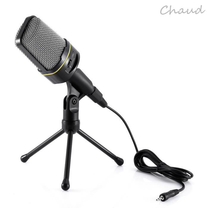 HAUT-PARLEUR - MICRO Microphone à Condensateur 3.5mm Audio Jack Filaire