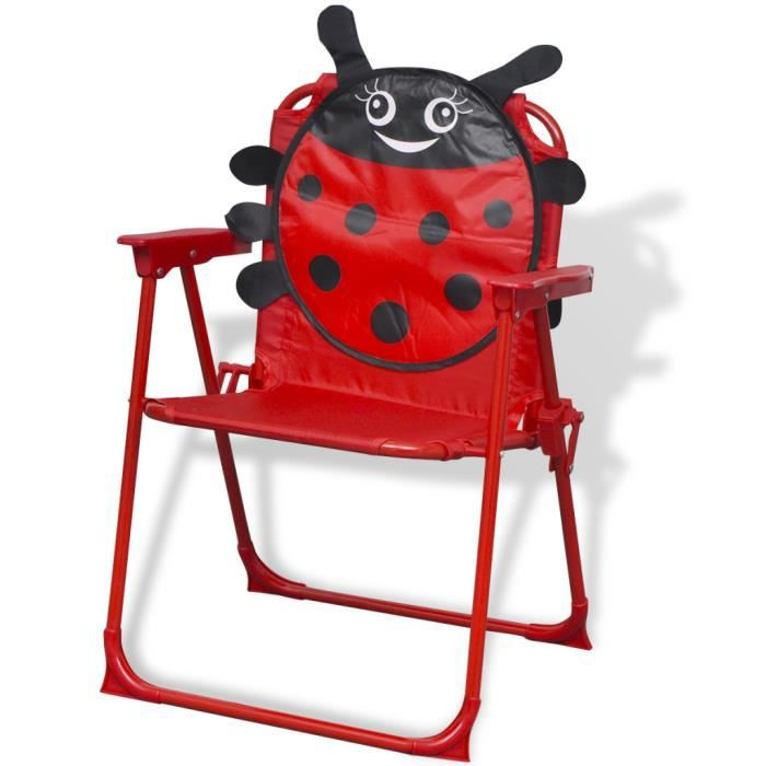 Ensemble table et chaise de jardin vidaXL Jeu de mobilier de jardin pour enfants 4 pc