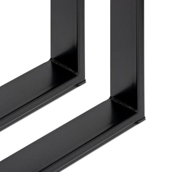 Blanc L67 X H72 Cm Magnetic Mobel Set De 2 Pieds De Table Pied De Meuble Metal Revetu Par Poudre X Conception Quincaillerie Quincaillerie Du Meuble