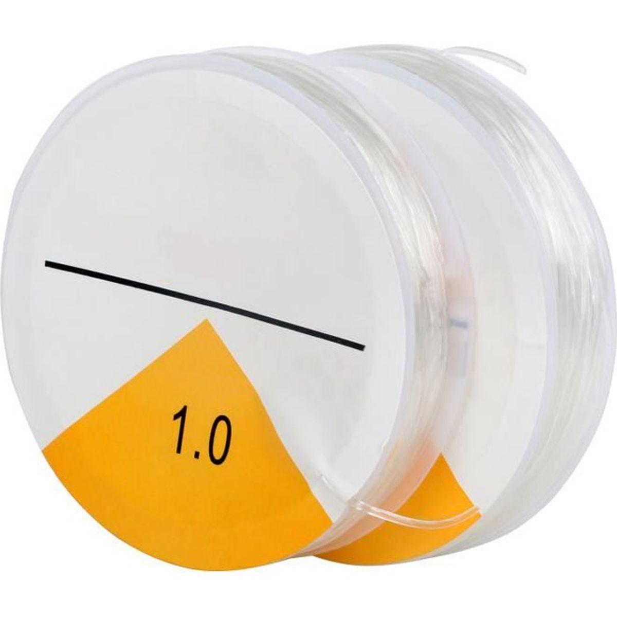bobine fil nylon élastique transparent 0.6 mm 15 mètres