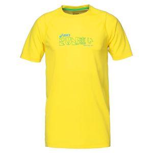 MAILLOT DE RUNNING ASICS Tee shirt manches courtes Homme - Jaune