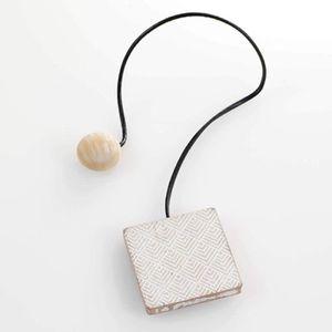 Douceur dInt/érieur Embrasse aimantee l 43 x 6 x 6 cm MDF Imprime caducia Blanc