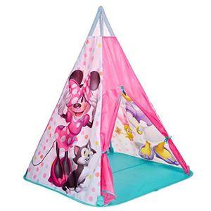 TENTE TUNNEL D'ACTIVITÉ Jeu D'Adresse JLT0M Minnie Mouse TeePee Jouer Tent