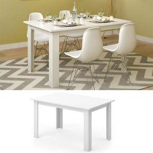 TABLE À MANGER SEULE Table à manger blanc  77 x 140 x 90 cm