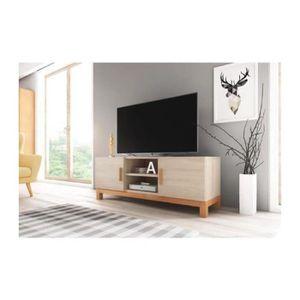 MEUBLE TV Meuble TV design GEORGE 140 cm à 2 portes & 2 nich