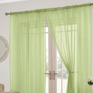 VOILAGE Tony's Textiles - Lot de 2 rideaux Lucy style voil