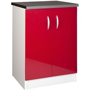 ELEMENTS BAS Meuble cuisine bas 60 cm 2 portes OXANE rouge