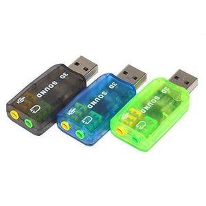 CARTE SON EXTERNE Ywei  Adapteur Carte Son USB externe 2.0 ver 3D Vi
