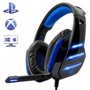 CASQUE AVEC MICROPHONE GZ*Beexcellent GM-3 Casque Gamer pour PS4 Xbox One