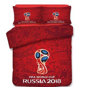 HOUSSE DE COUETTE ET TAIES FIFA WORLD CUP RUSSIA 2018 Rouge Parure de couette
