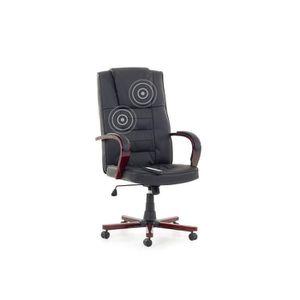 CHAISE DE BUREAU Fauteuil massant - chaise de bureau - cuir noir -