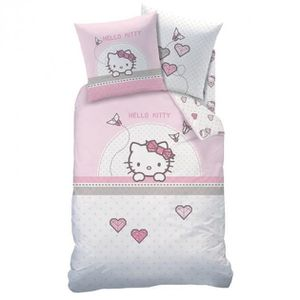 Housse couette hello kitty achat vente housse couette hello kitty pas cher cdiscount - Tour de lit hello kitty pas cher ...