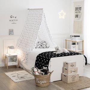 CIEL DE LIT Ciel de lit tipi Autres Noir, Blanc