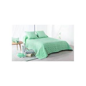 JETÉE DE LIT - BOUTIS Jeté de lit Boutis Mosaïque bleu + 2 taies d'oreil