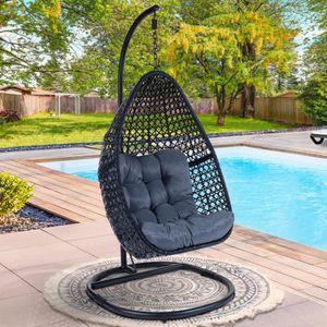 jardin fauteuil de plafond en macram/é patio pour int/érieur Fauteuil suspendu avec support chaise /à bascule suspendue 60 x 80 cm ext/érieur