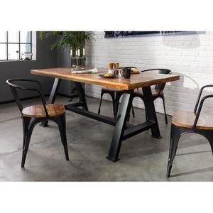 TABLE À MANGER SEULE Table à manger 200x100cm - Bois massif recyclé laq
