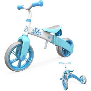 DRAISIENNE Y-VOLUTION - Tricycle Evolutif YVELO Flippa Bleu