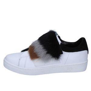 BASKET ISLO Chaussures Femme Baskets cuir Blanc BZ211