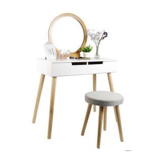 COIFFEUSE Coiffeuse moderne , Table de Maquillage avec Miroi