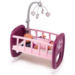 ACCESSOIRE POUPON SMOBY Baby Nurse Berceau A Barreaux + 1 Mobile