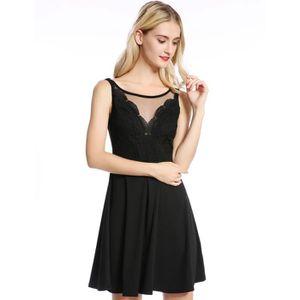 ROBE - JUPE Robe de soirée noir robe collante sexy élégante ro