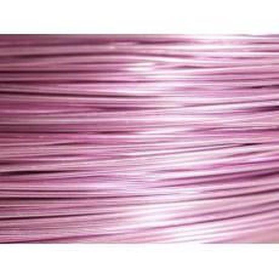 10 Mètres fil aluminium rose vif 0.8 mm
