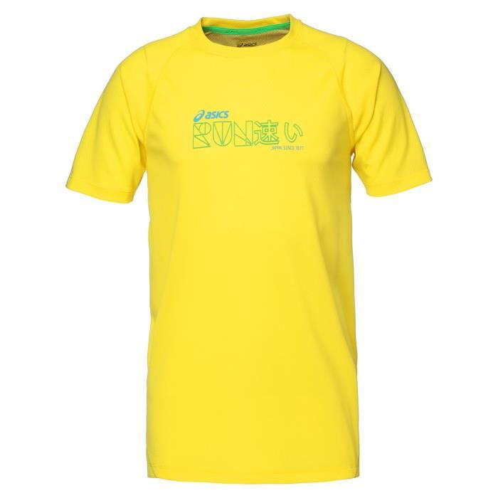 ASICS Tee shirt manches courtes Homme - Jaune