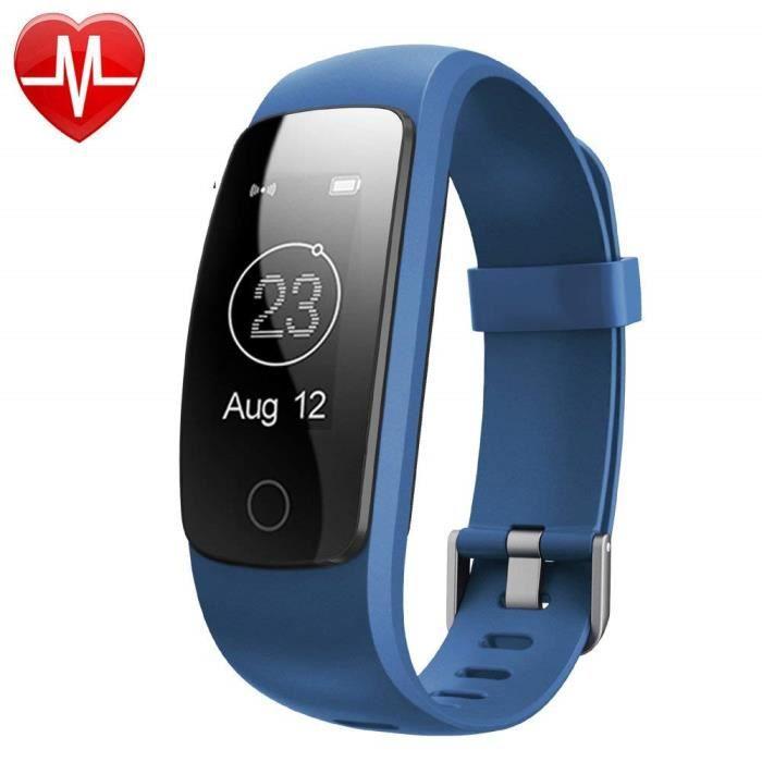 Montre Connectée,Willful SW331 Bracelet Connecté Fitness Tracker d'Activité Montre Cardio Sport avec Cardiofréquencemètre,Sommeil,Po