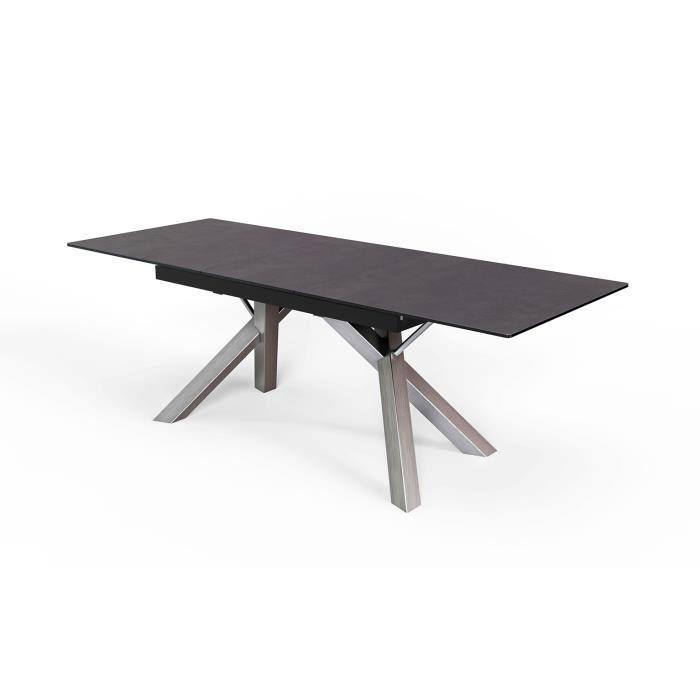 Table céramique extensible 180/220 cm rectangulaire piétement Acier - Roma