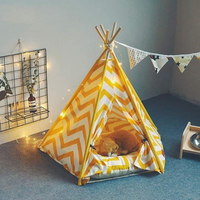 Niche Extérieure Pet Tipi Tente for chiens, moderne Pet Tipi Tente maison avec étage, Puppy lits for les petits chiens, 103939
