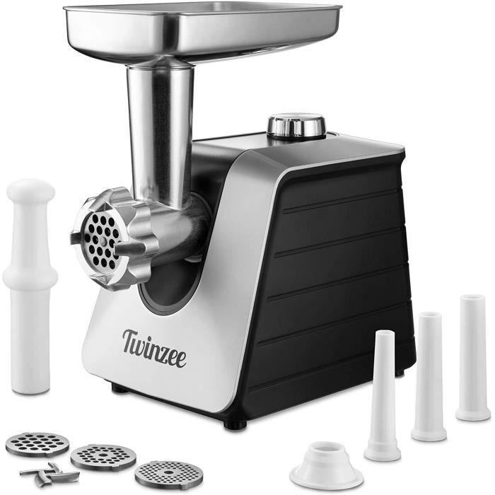Hachoir Electrique à Viandes (Noir) - Pour Viande et Saucisse - Robot Cuisine, Hachoir à Viande avec 3 Plaques de Coupe en Métal4