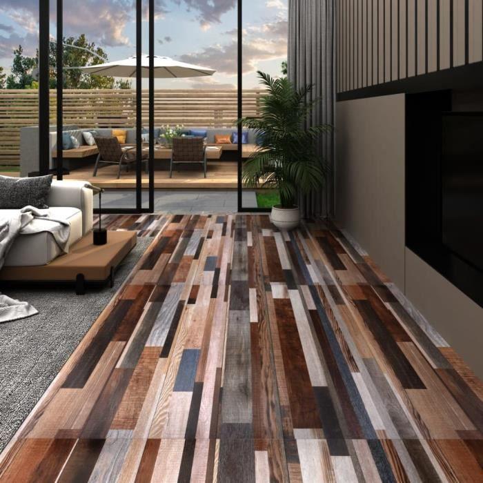 -FLASH-5810Nouveau Planches de plancher Décor - Panneaux de terrasse Lames de terrasse Dalles REVETEMENT EN PLANCHE PVC 5,02 m² 2 mm