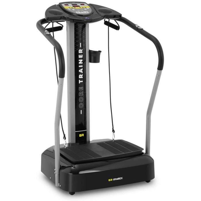 Plateforme Vibrante Et Oscillante Plate-Forme Plateau Vibrant Plaque Sport Musculation Machine pour Maigrir GR-MG39 (Max. 120 kg, Su