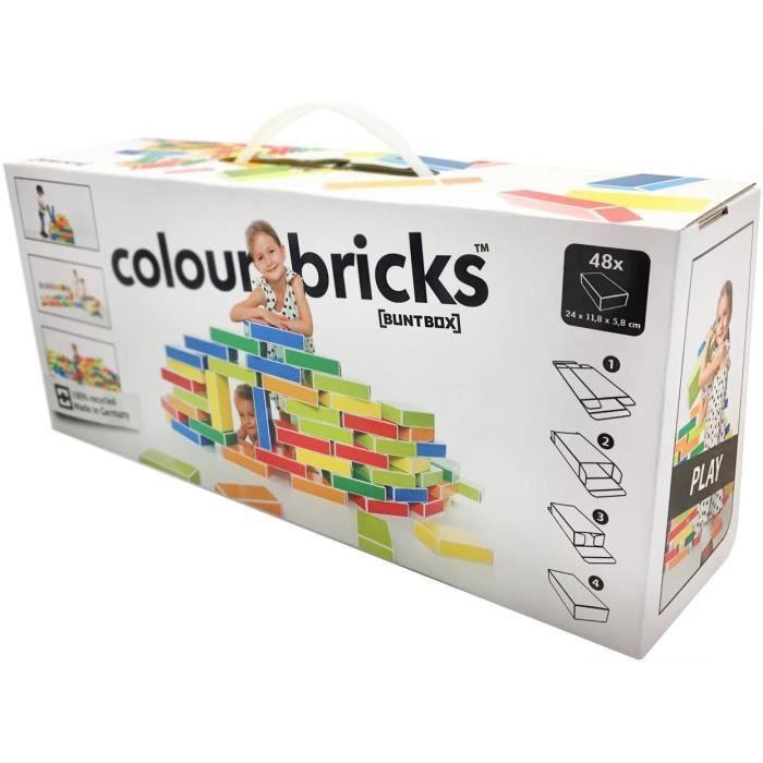 Jeux de construction Buntbox- Jeux de Construction-Briques Carton, 10119237 52226