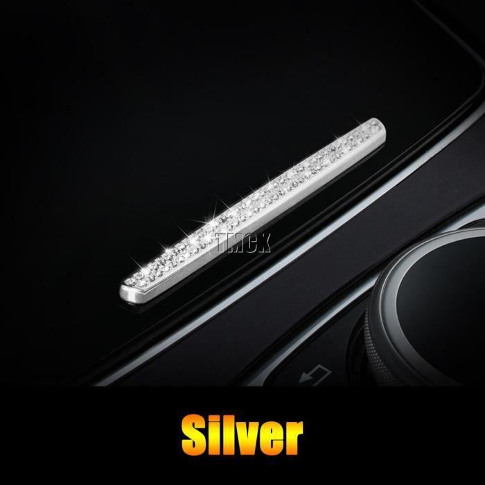 Silver-Accessoires de voiture pour Mercedes Benz classe E W213 classe C W205 GLC X253, Console centrale, coupe d'eau, bande rabat