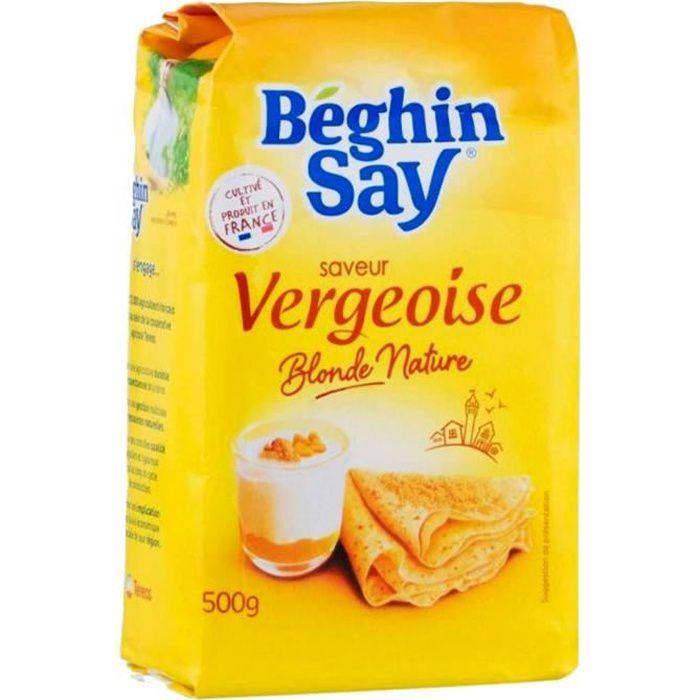Béghin-Say - Béghin-Say Saveur Vergeoise Blonde Nature 500g (lot de 3)