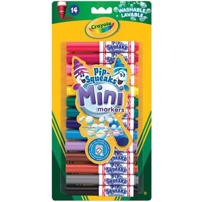 Crayola - 14 Mini feutres à colorier - Coloriage