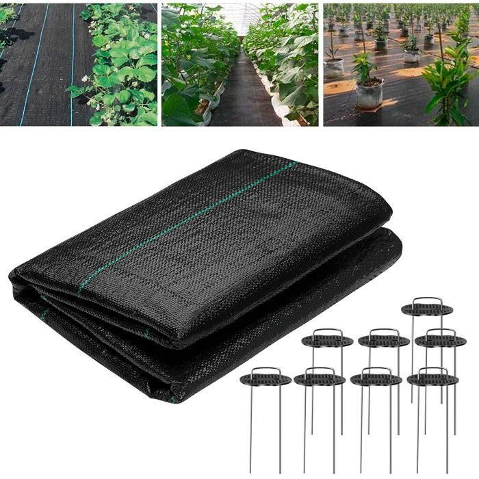 10m² Toiles de Paillage, Toile Anti-Mauvaises Herbes, Toile de paillage Contre Les Mauvaises Herbes, Robuste et Anti-UV, pour Le Jar