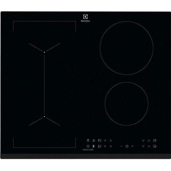 ELECTROLUX LIV6343 Plaque de cuisson - 4 foyers - 7350W - Revêtement verre - Noir