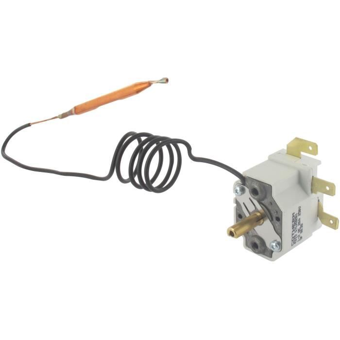 Thermostat mono bulbe pour chauffe-eau domestique sur et sous évier à régulation 5/65°C type GTLH, L de canne: 650mm