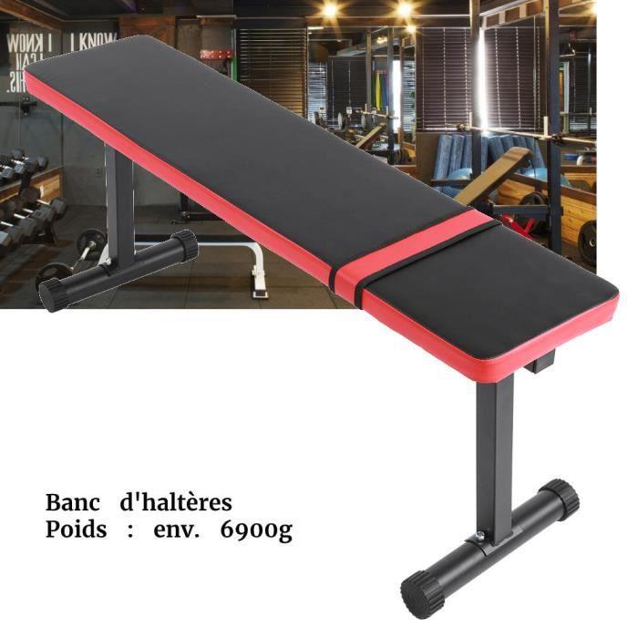 BEL Banc Haltérophilie Plat pour Musculation - Multi Functional Sit Up Fitness Bench Tabouret De Remise en Forme-12