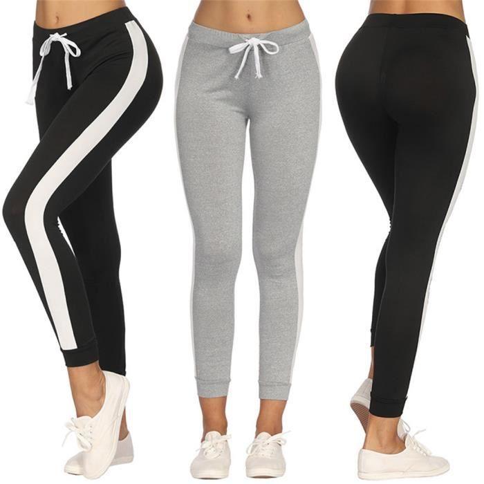 Femmes Casual Jogger Dance Sport Pantalons de survêtement Skinny Pantalon de survêtement Pantalon de survêtement