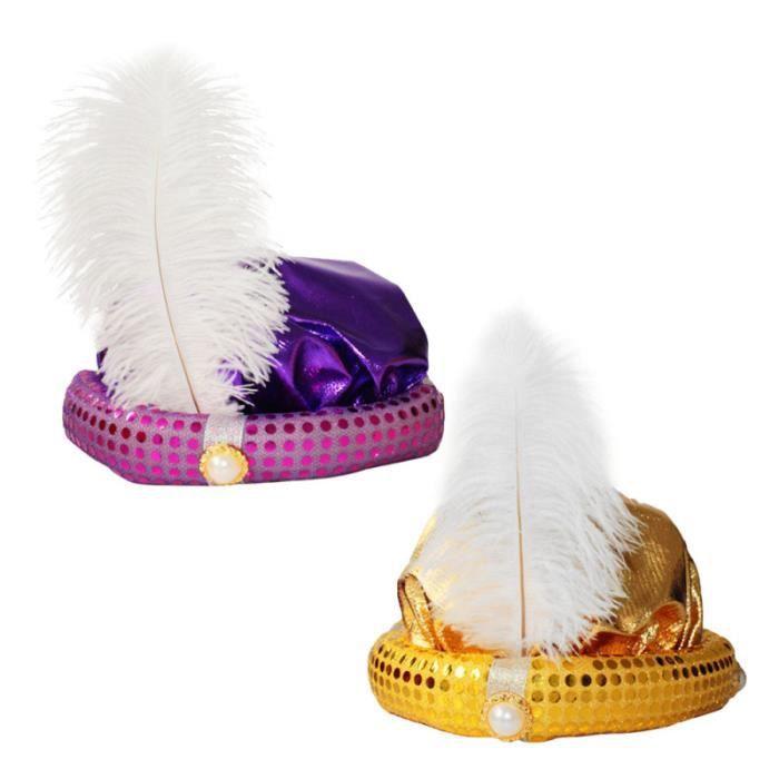 2 pièces nouveauté Halloween Cosplay accessoires de fête chapeau Aladdin CHAPEAU - PERRUQUE - COUVRE CHEF - ACCESSOIRE DE TETE