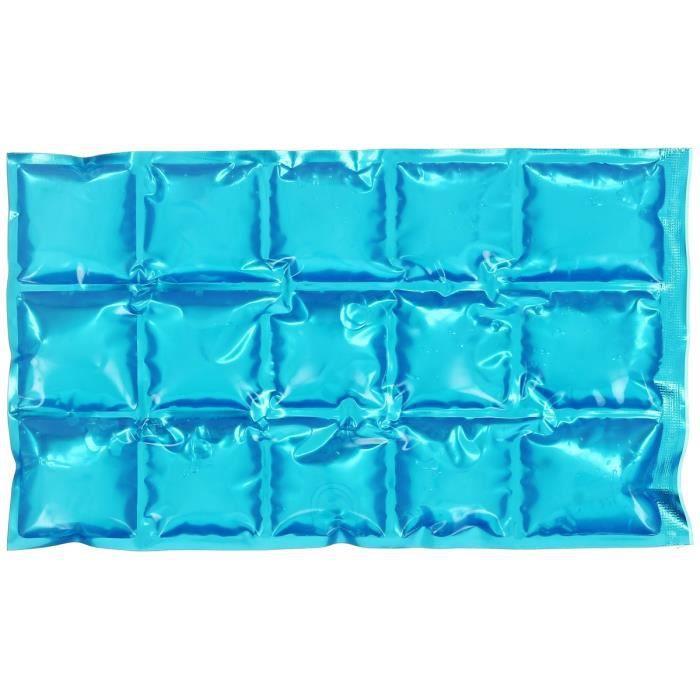 Pain De Glace Souple Glaçon Bloc Fraicheur Flexible Pour Glacière Bosse 15 Cubes Bleu