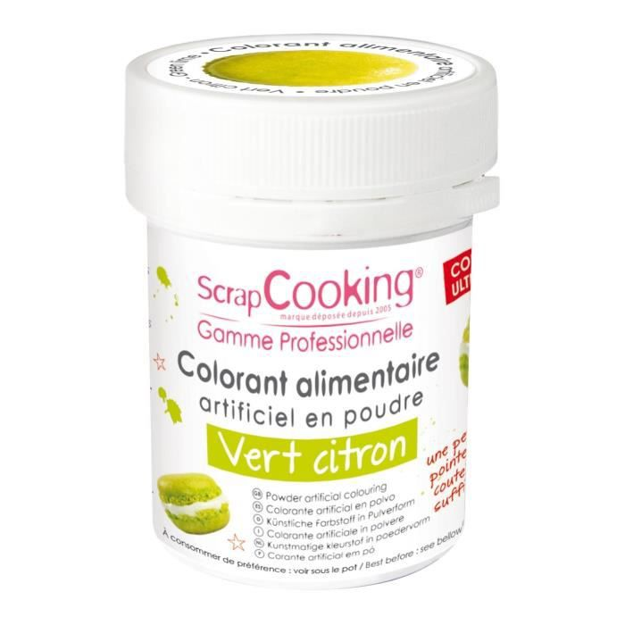 Colorant alimentaire (artificiel) - Vert citron - Scrapcooking