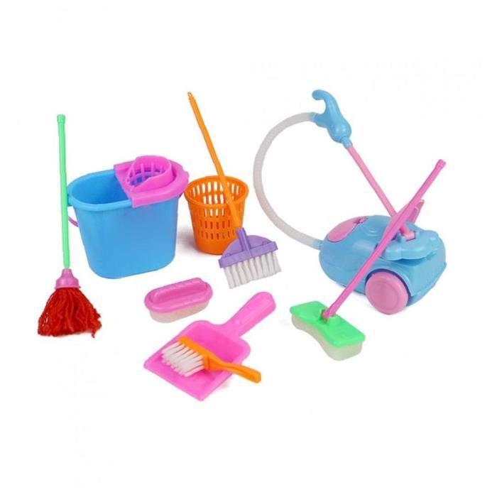 Ménage prétendre jouer Kit jouet mini aspirateur nettoyant nettoyage balai-balai outils accessoires jouets jouets pour filles enfant